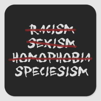 Abolish Speciesism Next! Square Sticker
