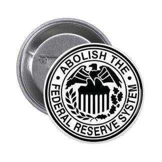 Abolish The Federal Reserve 6 Cm Round Badge