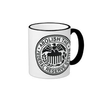 Abolish The Federal Reserve Ringer Coffee Mug