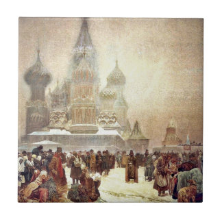 Abolition of Serfdom in Russia 1914 Small Square Tile