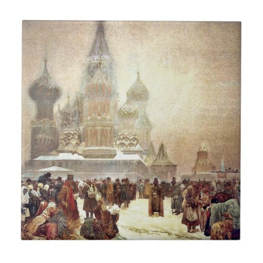 Abolition of Serfdom in Russia 1914 Tile
