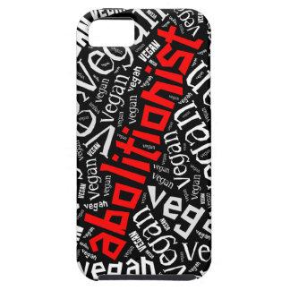 """Abolitionist Vegan"" Word-Cloud Mosaic iPhone 5 Case"