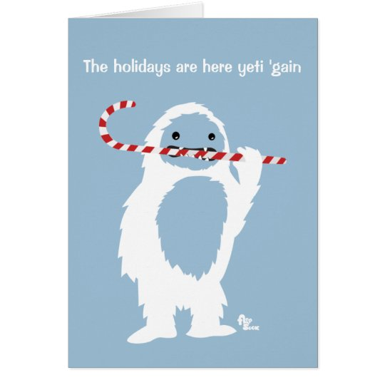 Abominable Snowman Holiday Card