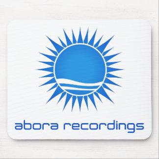 Abora Recordings Blue-on-White Mousepad