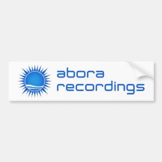 Abora Recordings Bumper Sticker (Blue)