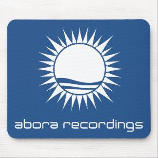 Abora Recordings White-on-Blue Mousepad