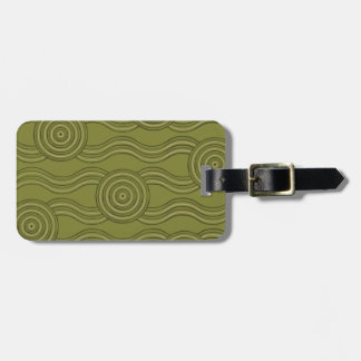 Aboriginal art bush luggage tag