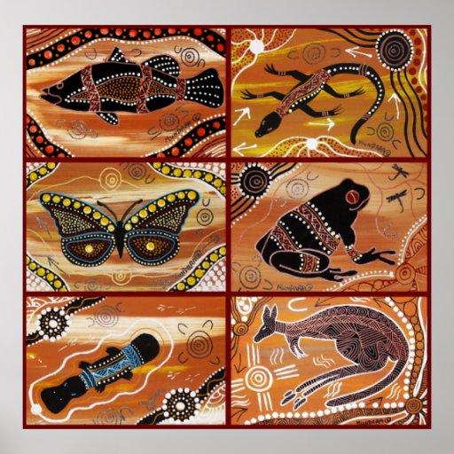 Aboriginal Art Collage Poster
