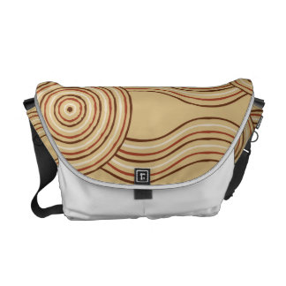 Aboriginal art earth messenger bag