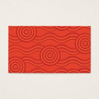 Aboriginal art fire business card