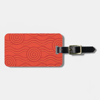 Aboriginal art fire luggage tag