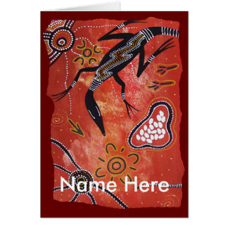 Aboriginal Art Goanna Territory Card