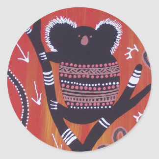 Aboriginal Art Koala Sticker