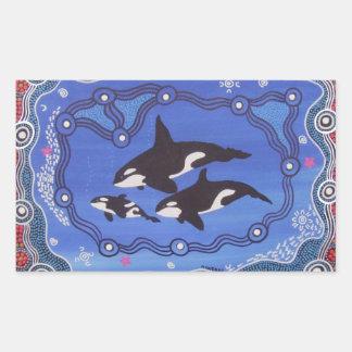 Aboriginal Art Orca Dreaming Stickers
