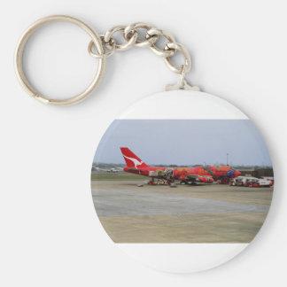 Aboriginal art, Quantas 747, Kingsford Smith Airpo Key Ring