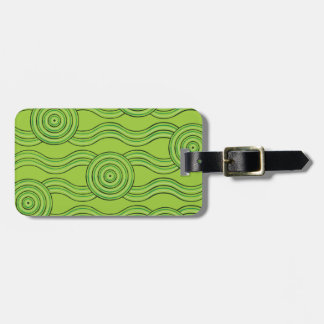 Aboriginal art rainforest luggage tag