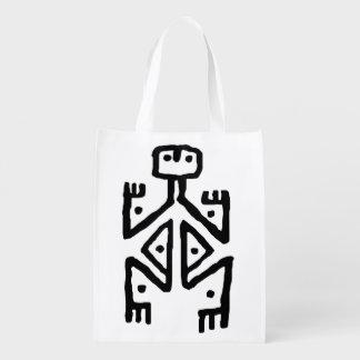 aboriginal art reusable grocery bag