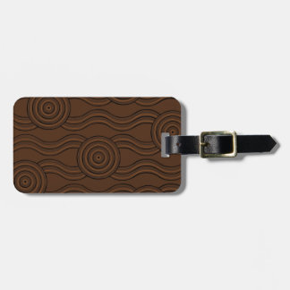 Aboriginal art soil luggage tag