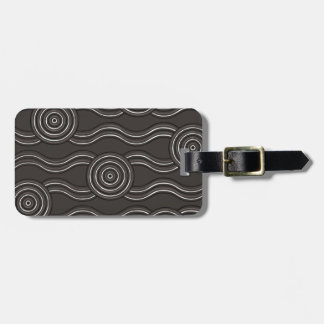 Aboriginal art storm luggage tag