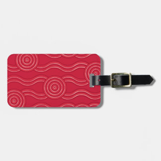 Aboriginal art waratah luggage tag