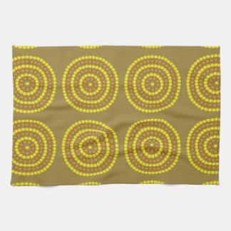 Aboriginal beige tea towel