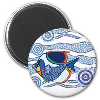 Aboriginal Dot Art Fish-01 Magnet