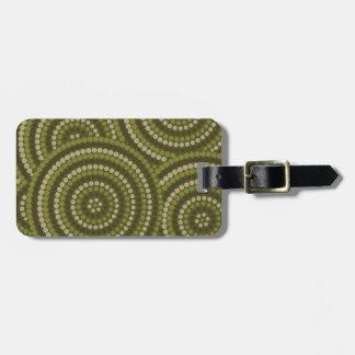 Aboriginal dot painting bag tag