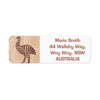 Aboriginal dot painting emu