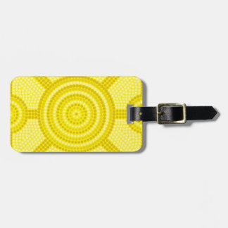 Aboriginal dot painting luggage tag