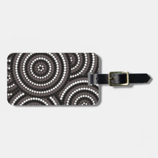 Aboriginal dot painting luggage tag