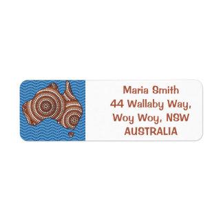 Aboriginal dot painting map