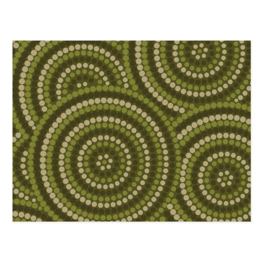Aboriginal dot painting postcard