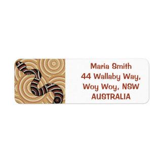 Aboriginal dot painting snake