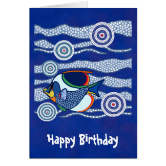 Aboriginal Fish Greetings 3 Card