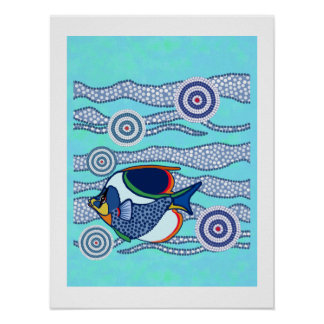 Aboriginal Fish Poster 2