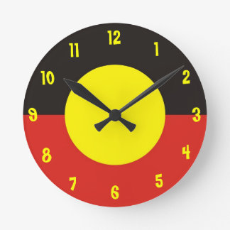 aboriginal flag clock