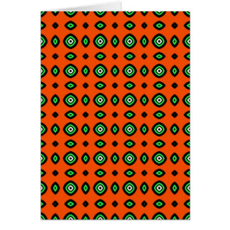 aboriginal folk pattern card