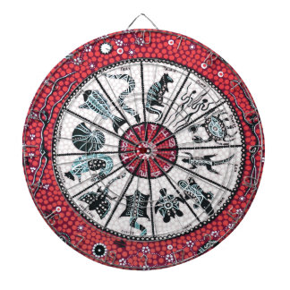 Aboriginal Horoscope Red Dartboard