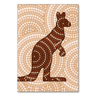 Aboriginal kangaroo dot painting table cards
