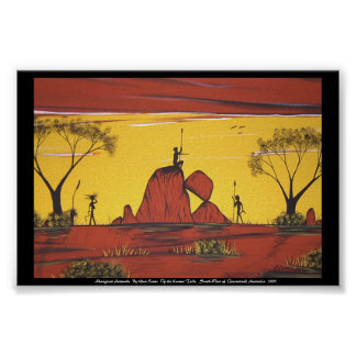 Aboriginal Landscape painting By Glen Evans Poster