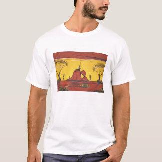 Aboriginal Landscape T-shirt print.
