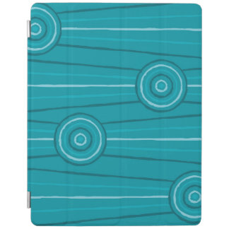 Aboriginal line and circle painting iPad cover