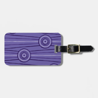 Aboriginal line and circle painting luggage tag