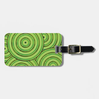 Aboriginal line painting luggage tag