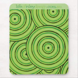 Aboriginal line painting mouse pad