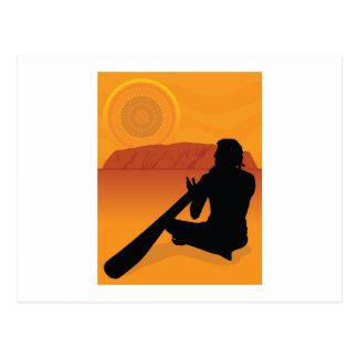 Aboriginal Silhouette Postcard