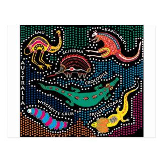 Aboriginal style postcard