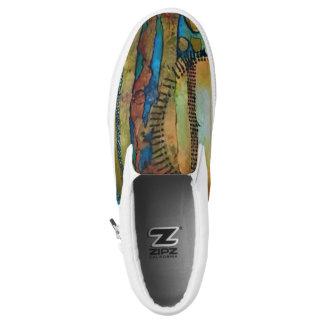 Aboriginal Sunset Slip-On Shoes