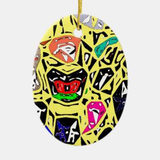 Aboriginal Surreal Yellow Christmas Ornament