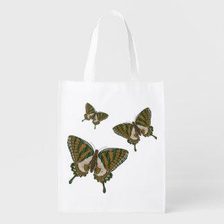 Aboriginal Swallowtail Reusable Grocery Bag